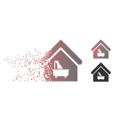 shredded pixel halftone bathroom icon vector image