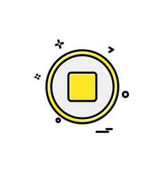 stop button icon design vector image