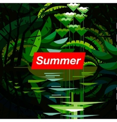 Summer tropical forest seasonal background vector image vector image