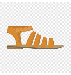 Summer woman sandal icon flat style vector