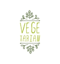 Vegetarian - product label on white background vector