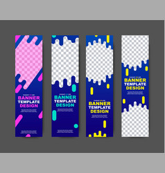 vertical web template for violet-blue banners vector image