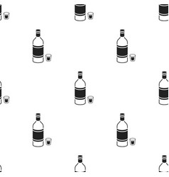 Vodka icon in black style isolated on white vector