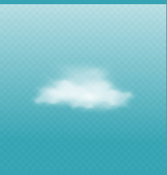 White cloud isolated on blue background vector