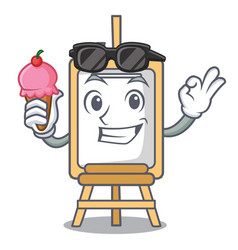 with ice cream easel character cartoon style vector image