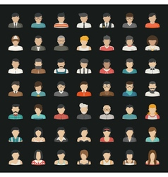 Business icons and people icons eps10 for vector image
