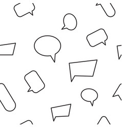 chat bubble seamless pattern vector image