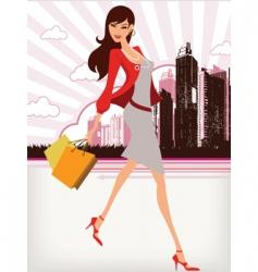 city girl vector image vector image