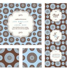 Daisy card set vector