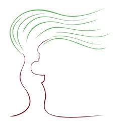 female sketch vector image vector image
