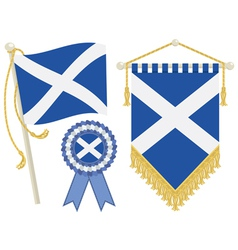 scotland flags vector image