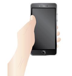 smartphone in hands vector image