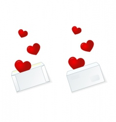 valentine mail vector image