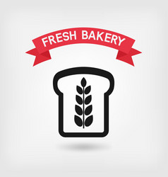 bread symbol bakery sign vector image vector image