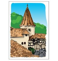 Digital castle sketch vector image
