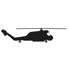 helicopter sign black icon vector image vector image