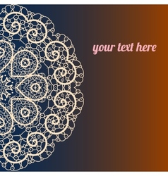 ornate frame with sample text vector image