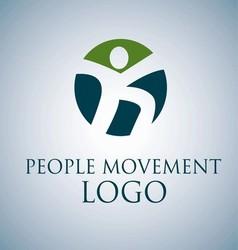 PEOPLE MOVEMENT LOGO 3 vector image