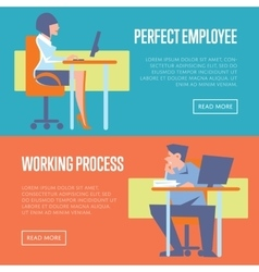 Perfect employee and working process banners vector image vector image