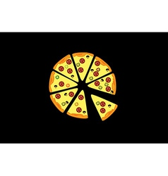 Pieces of pizza vector image