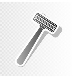 safety razor sign new year blackish icon vector image