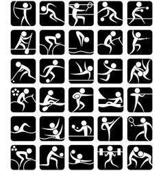Summer Sports Symbols vector image vector image