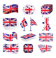 waving uk flag england british patriotic national vector image