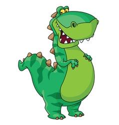 happy dinosaur vector image vector image