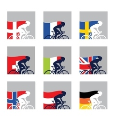 international competition European cyclist with vector image