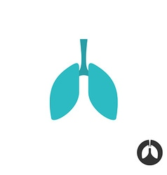 Lungs silhouette simple symbol Medical pharmacy vector image