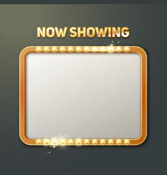 now showing sign vector image vector image
