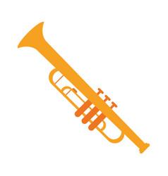 trumpet musician instrument icon vector image