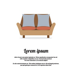 Vintage Two Seat Sofa vector image