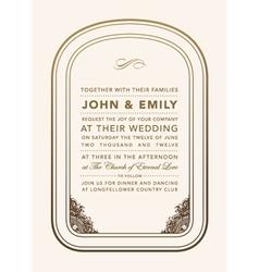Vintage wedding invite vector image vector image