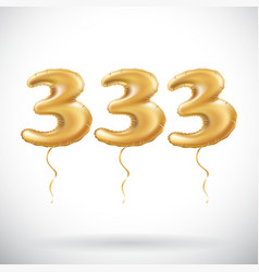 333 anniversary celebration with brilliant gold vector image vector image