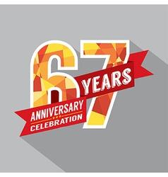 67th Years Anniversary Celebration Design vector image