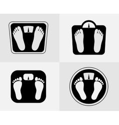 Bathroom scales icon Weight control sign vector image