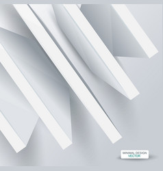 3d abstract white structure over white background vector