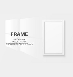 3d realistic white vertical wooden simple vector image