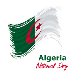 5 july algeria independence day vector image
