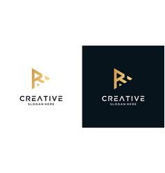 Abstract letter r logo design inspiration vector