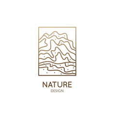 abstract mountain logo natrural minimalistic vector image