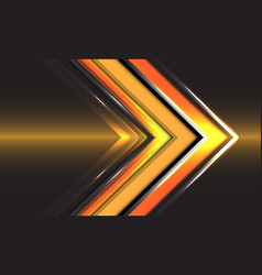 Abstract technology yellow arrow direction speed vector
