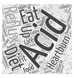 Acid reflux diet Word Cloud Concept vector