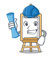 architect easel character cartoon style vector image