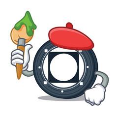 Artist byteball bytes coin character cartoon vector
