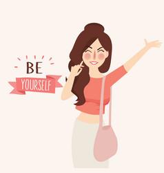 Believe in yourself girl vector