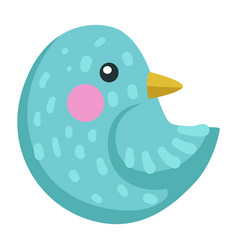 bird with blue plumage birdie or sparrow avian vector image