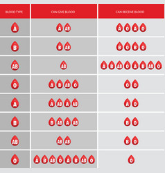 blood type drop icon vector image