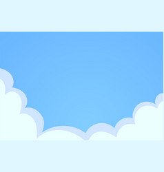 blue sky with white clouds background cloud on vector image